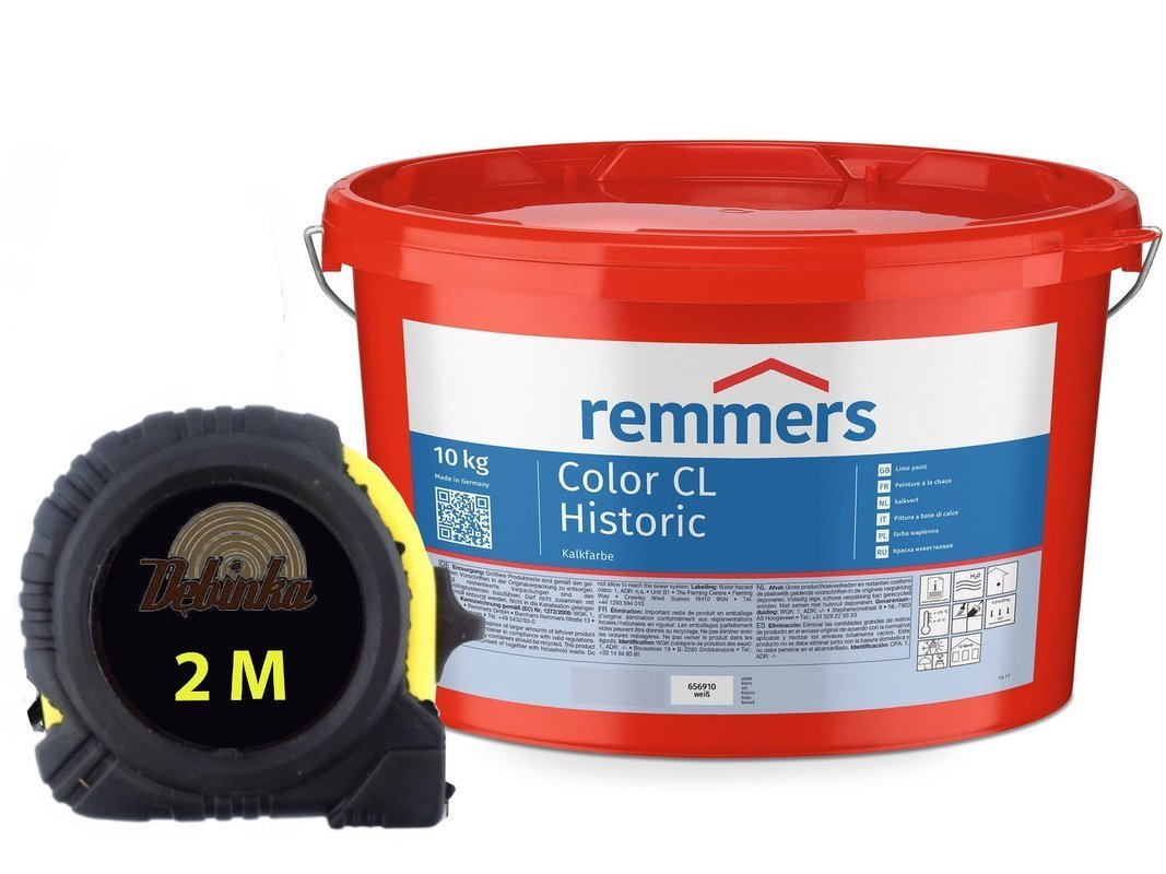 REMMER Color CL Historic farba wapienna BIAŁA 10KG