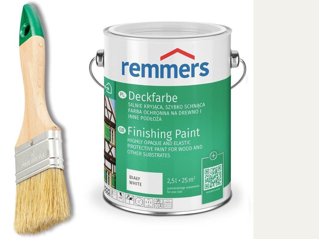 Remmers Deckfarbe do drewna metalu BIAŁY 2,5 L