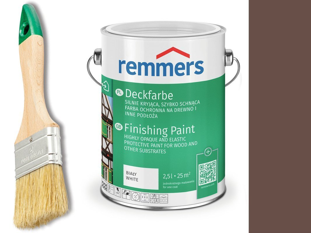 Remmers Farba do drzwi mebli ORZECHOWY 0,75 L