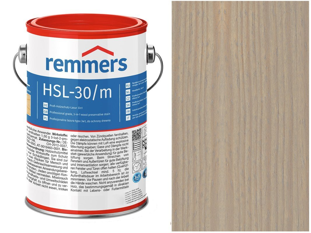 Remmers HSL-30 Profi HK-Lasur Srebrnoszary 2,5L