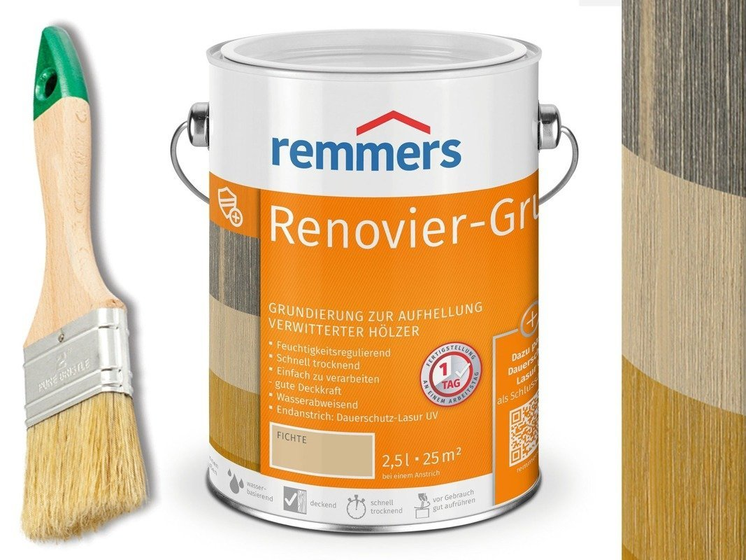 Remmers Renovier-Grund 1504 2,5L zwietrzałe drewno